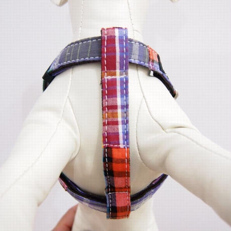 WagWear Madras Collar HARNESS  Purple