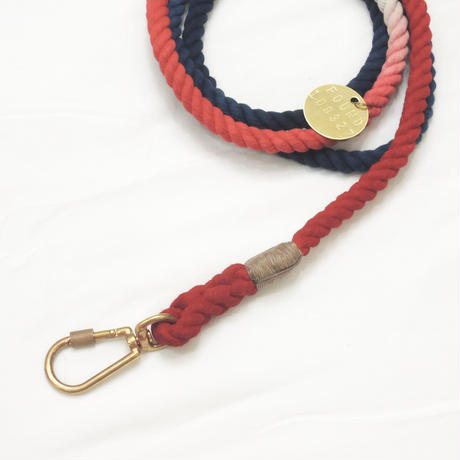 Found My Animal ADJUSTABLE ROPE LEASH(The USA OMBRE)