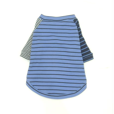 Ware Of The Dog  BLUE CRAZY STRIPED T-SHIRT