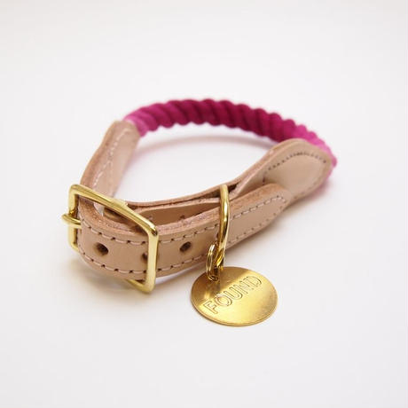 Found My Animal Rope Cat&Dog Collar(MAGENTA OMBRE)