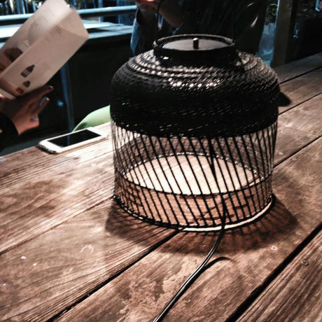 Table Light BLACK BAMBOO / BLACK PCV