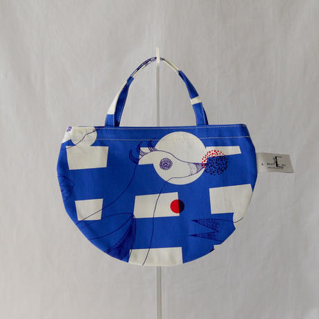 MINI R TOTE            -MAGIC BIRD- (BLUE)