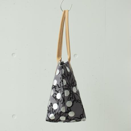 BAG_レザーハンドルトート -BUBBLE FLOWER- (SILVER)