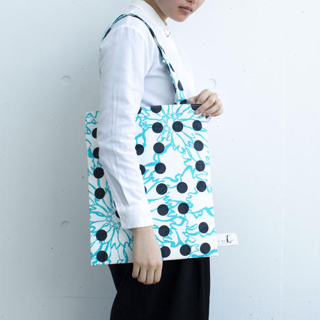 BAG_LCトート -BUBBLE FLOWER- (LIGHT BLUE)