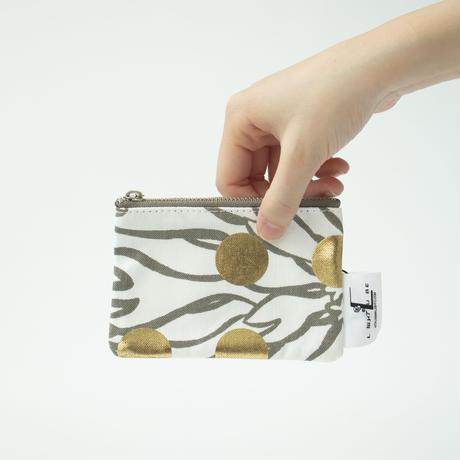 POUCH_ミニフラットポーチ -BUBBLE FLOWOR -(GOLD)