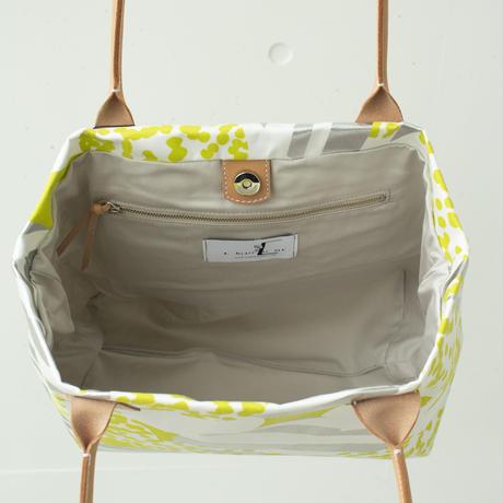 BAG_レザーハンドルトート -SOUFFLE-(YELLOW GREEN)