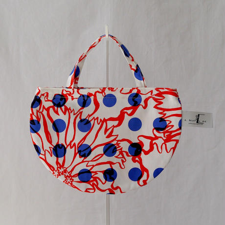 MINI R TOTE           -BUBBLE FLOWER- (ORANGE)