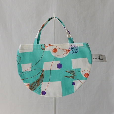 MINI R TOTE            -MAGIC BIRD- (EMERALD GREEN)