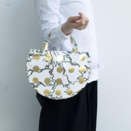 BAG_ミニRトート -BUBBLE FLOWER- (GOLD)