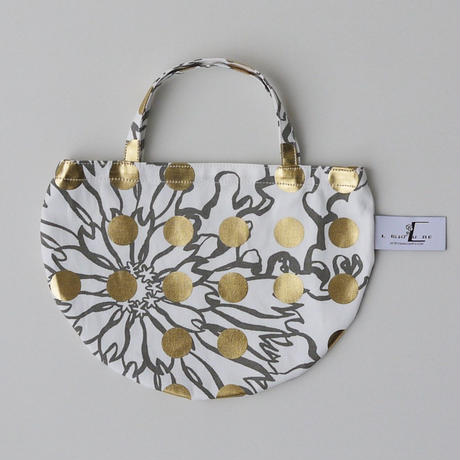 MINI R TOTE           -BUBBLE FLOWER- (GOLD)