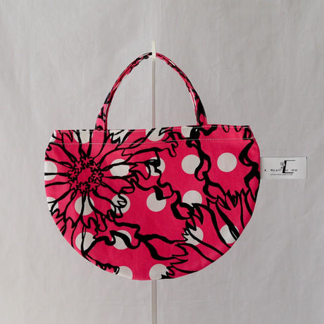 MINI R TOTE           -BUBBLE FLOWER- (PINK)