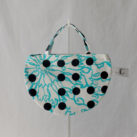 MINI R TOTE           -BUBBLE FLOWER- (LIGHT BLUE)