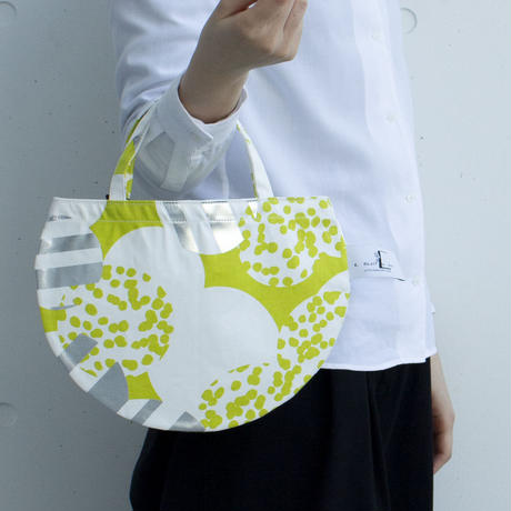 BAG_ミニRトート -SOUFFLE- (YELLOW GREEN)