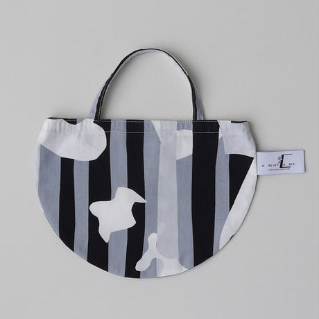 MINI R TOTE           -DEEP BREATH- (GRAY)