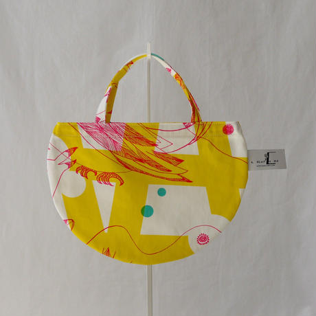 MINI R TOTE            -MAGIC BIRD- (YELLOW)