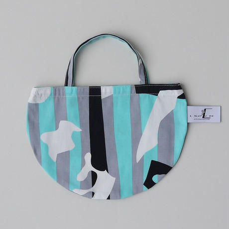 MINI R TOTE           -DEEP BREATH- (AQUA BLUE)