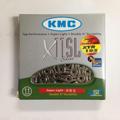 KMC X11SL CP 軽量チェーン シマノ・カンパ11速用 シルバー