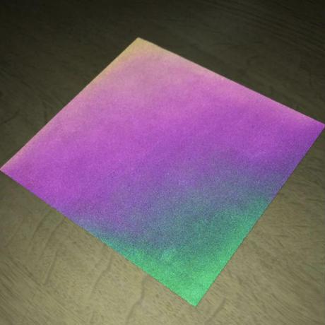 【LIGHT FORCE®︎】オーロラリフレクター生地サンプル 10cm角 ブラック