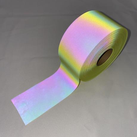 【LIGHT FORCE®︎】オーロラリフレクターテープ 50mm幅 イエロー