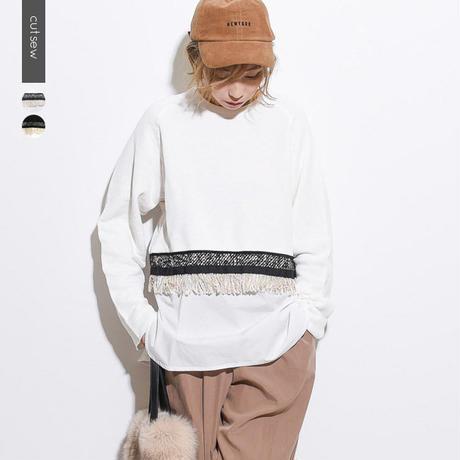【kittle. キトル】異素材MIX スウェットトップス c0036  春