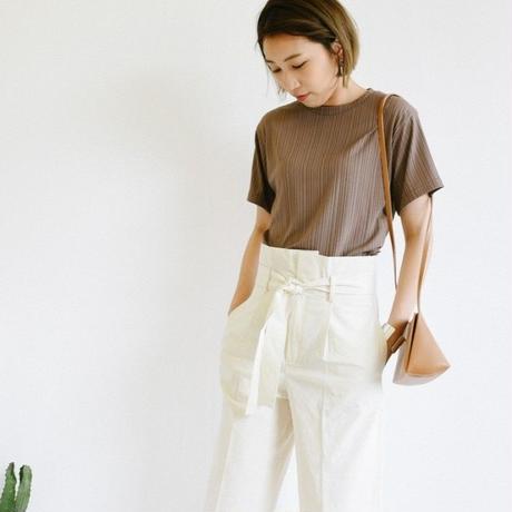 半袖リブTシャツ  c0055