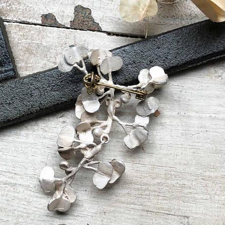 ヤマイモヅルのブローチ*Silver