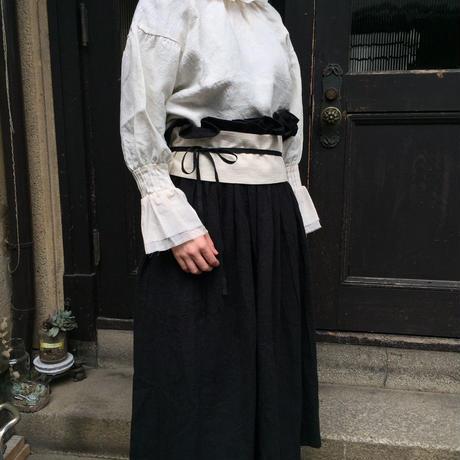 etoffe et soeur ギャザーリネンベルト付きスカート