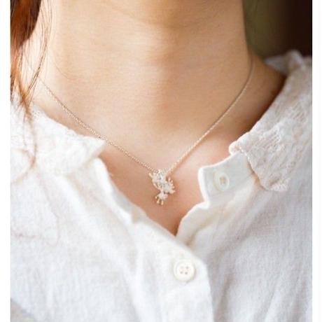 【復刻】ノリウツギ(アジサイ)のネックレス:Small