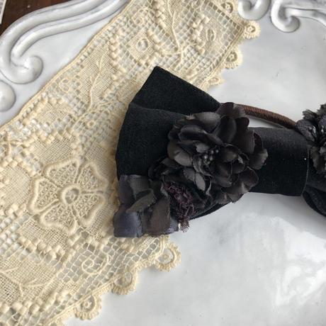 【Lilaf限定】 リボンとお花のヘアゴム* 2color
