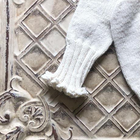 ニットの手編みミトン