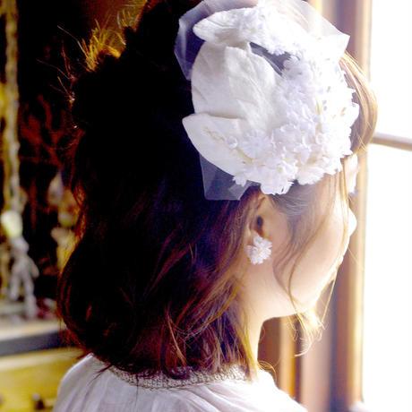 お花とチュールのヘッドアクセサリー*
