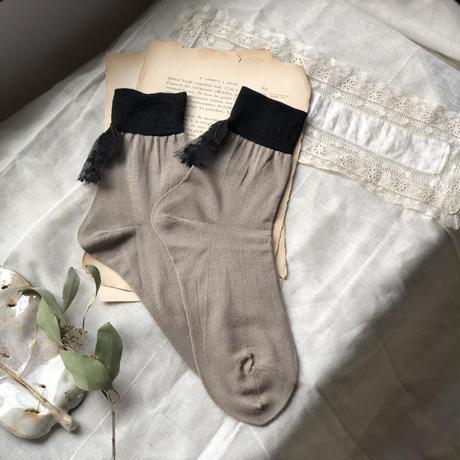 バイカラーの靴下* 2color