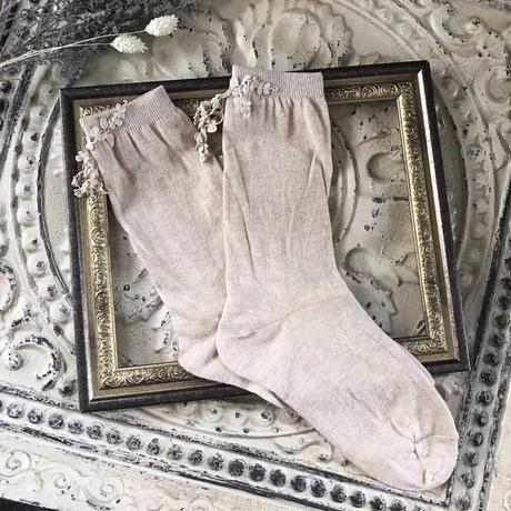 ヤマイモレースの靴下*