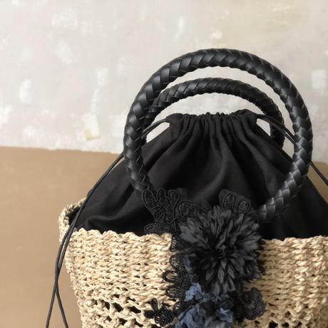 【数量限定】マムとヤマイモレースのバッグ* Black