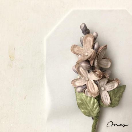 [季節のお花ブローチ]5月:ライラック