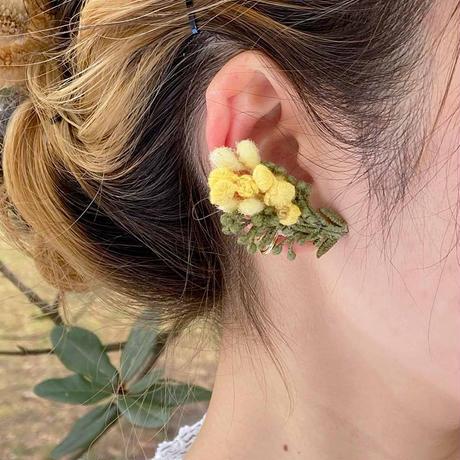 ミモザの片耳ピアス / イヤリング*