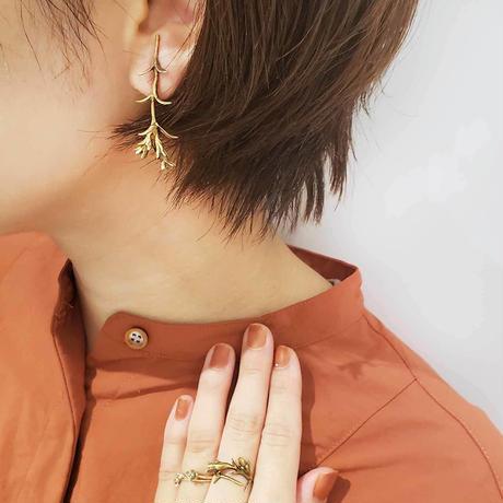 [11月誕生花×誕生石]リンドウのイヤリング*Gold