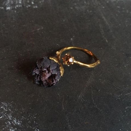 【限定二点】Lilaf つぼみのリング black