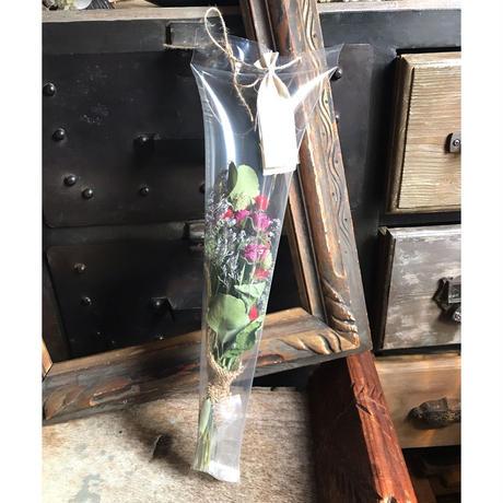 ドライフラワーの花束*パープル