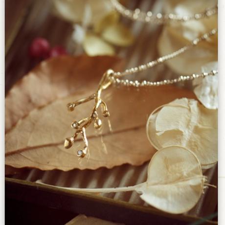 【復刻】小枝とプチダイヤのネックレス