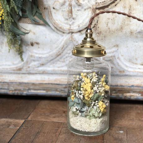 【Lilaf限定1点】ミモザのflower bottle light(ボトルライト)* Medium