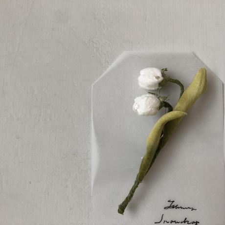 [季節のお花ブローチ]2月:スノードロップ