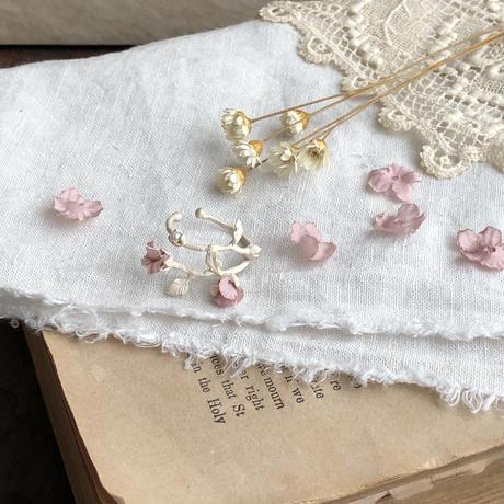 花とつぼみのシルバーイヤーカフ* 4color