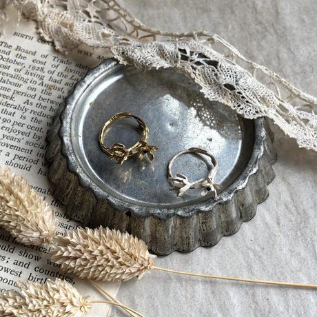 [9月誕生花×誕生石]ダイモンジ草のリング*Gold/Silver