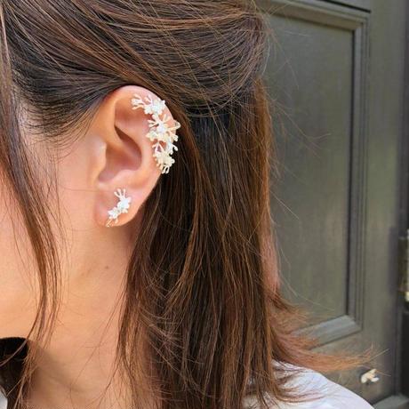 ノリウツギアジサイの片耳イヤーフック* silver