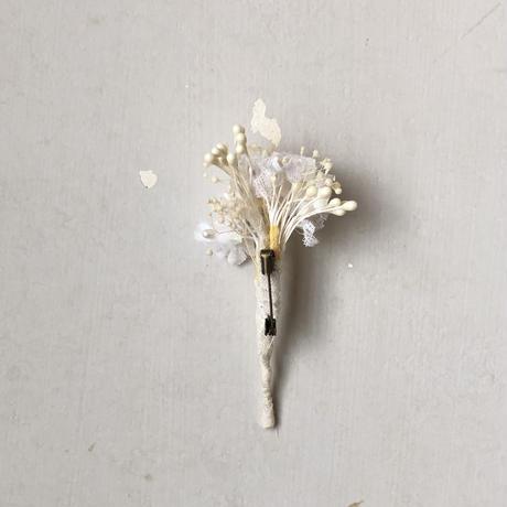 [季節のお花ブローチ]7月:かすみ草
