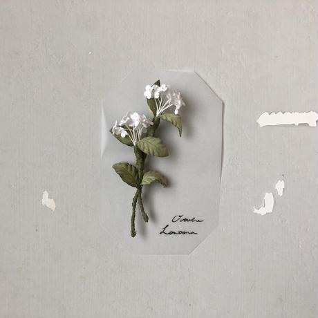 [季節のお花ブローチ]10月:ランタナ
