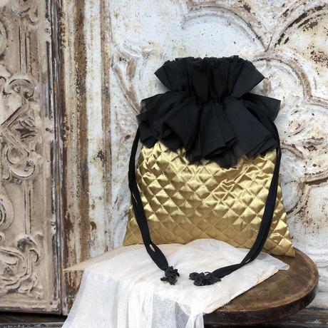 キルトの巾着バッグ* 3color