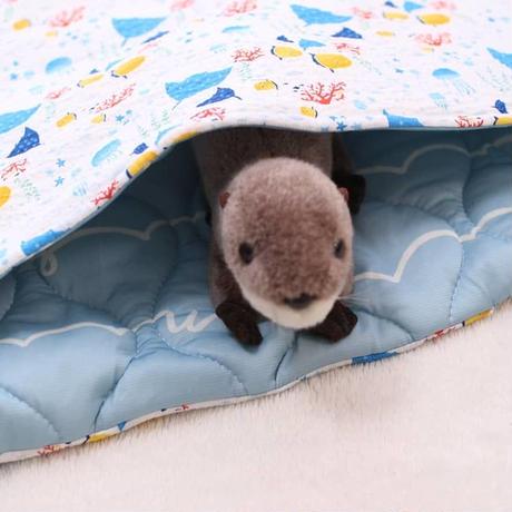冷感キルト寝袋Lサイズ◆海の仲間たち