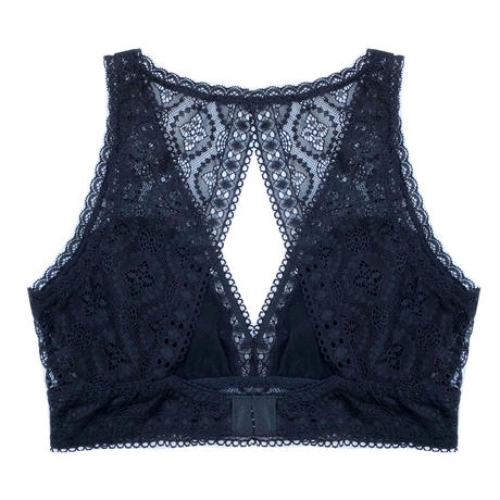 Moroccan Back Style Black Bralette